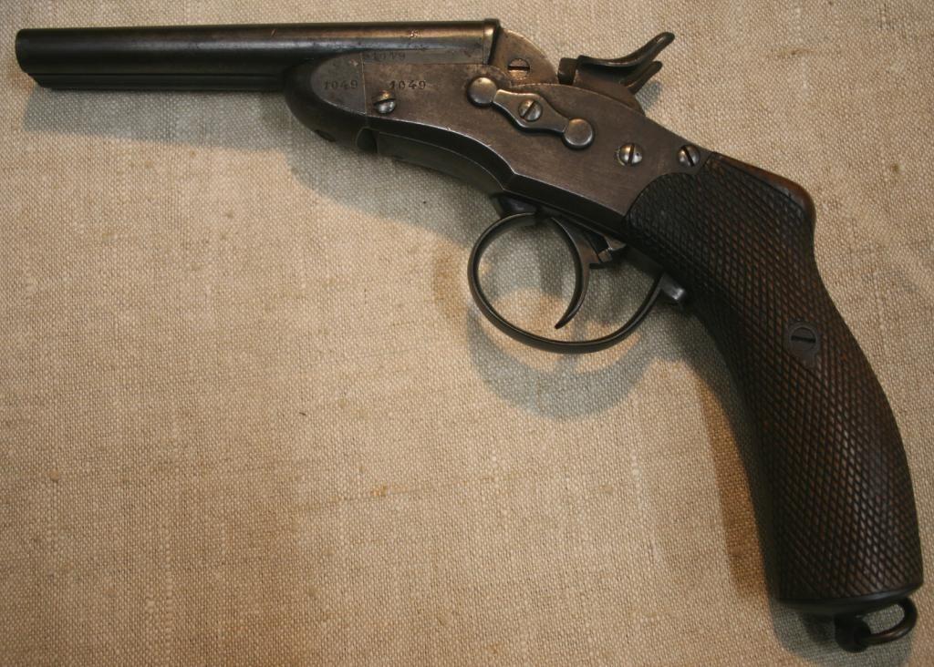 Rare Remington Nagant, Model 1877  Double pistol  | Green