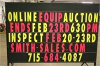 FEB ONLINE EQUIPMENT AUCTION ENDS MON FEB 23RD 6:30 PM CST