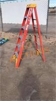 6FT Orange Werner Fiberglass Ladder