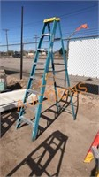 8FT Blue Werner Fiberglass Ladder