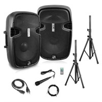 PYLE PPHP849KT ACTIVE+PASSIVE PA SPEAKERS