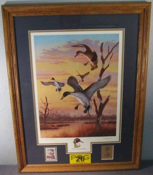 Art Framed Print Coin & Stamp 1993 Earth Day Antis | HiBid Auctions