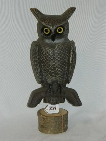 Decatur Il Mall >> Swisher & Soules Decatur, IL Owl Decoy   Tumbleson Auction Company