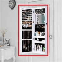 FULL-LENGTH MIRROR JEWELRY ARMOIRE