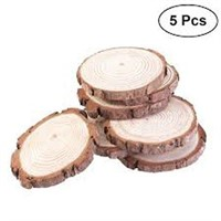 5PCS NATURAL ROUND WOOD SLICES