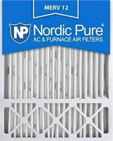 SET OF 2 NORDIC PURE AC FURNACE AIR FILTER 20X25X5