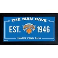 "NEW YORK KNICKS MAN CAVE SIGN 12"" X 22"""