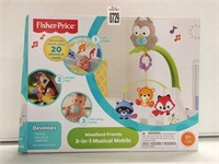 FISHER PRICE WOODLAND FRIENDS 3-IN MUSICAL MOBILE