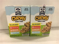 QUAKER CHEWY VARIETY PACK 116 GRANOLA BARS