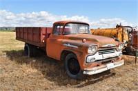 "1958 Chev 40 Viking Truck; 13' box, 28"" sides,"