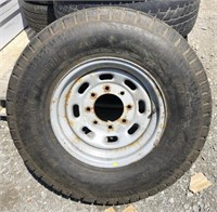 Steel wheel and tire