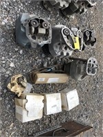 Large Lot Of Airplane Engine Parts