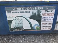 40Ft x 30ft x 15ft Fabric Building In Metal