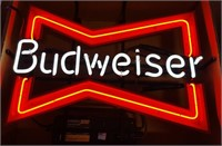 Budweiser Bow Tie Neon Advertising Sign
