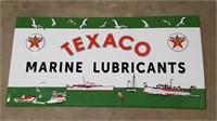 Texaco Marine Lubricants Embossed Tin Sign