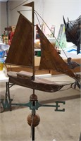 Older Sailboat Weathervane w/Stand