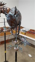Contemporary Bison Weather Vane on Stand