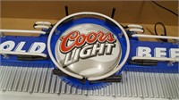 Coors Light Cold Beer Marquee Neon Advertising