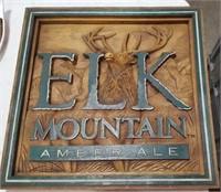 Elk Mountain Amber Ale Advertising Sign