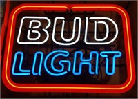 Bud Light Neon Advertising Sign