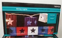 4th of July Festive String Lights.  10 lights per