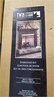 Midnight Oak Fireplace Surround Kit.  65.2 x 43.2