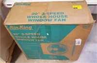 Are King 20-in 3-speed whole house window fans