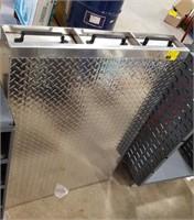 Diamond plate 3 drawer truck bed storage
