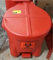 Red Biohazard Disposal Basket