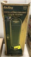 Oscillating ceramic tower heater