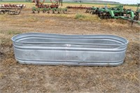 Oval stock tank 10'x3' (slight bow)