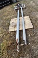 """2- Bin augers, 16'x4"""", hydr (1 broken)"""