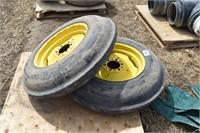 (2) JD Tires & Rims; 7.50-20; 6 hole, fits 30