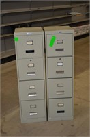 (2) Steel 4 Drawer Filing Cabinets - imperfect
