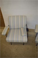 (2) Upholstered Chairs - one arm needs repair