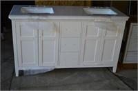 (2) Bathroom Vanities - both damaged