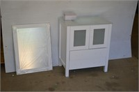 """Bosconi 30"""" Vanity Cabinet with Sink and Mirror"""