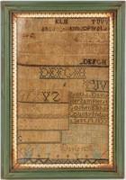 Art - Framed Antique Alphabet Sampler Dated 1835