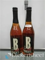 (2) 107 Proof Aged 7 Years Baker's