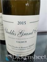 (2) 2015 Chablis Grand Cru Valmur Jean Claude et R