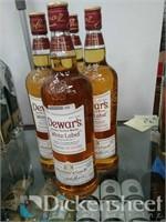 (4) Dewars white label true scotch whisky, 750ML,