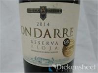 (4) 2014 Ondarre Reserve Rioja, 750ML, $ 64.00
