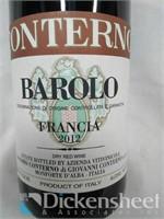 2012 Conterno Barolo Francia 750ML, $ 224.00