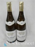 (2) 2015 Puligny Montrachet white burgundy wine, o