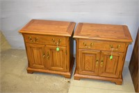 """(2) Wood End Tables 16""""x27""""x27"""" Tall"""