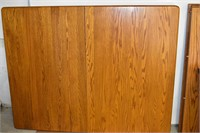 """Heavy Wood Table 42""""x53"""" with (3) Leaf's 12""""W"""