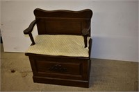 Bench with Storage Compartment & Cushion