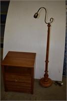 Night Table & Floor Lamp