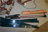 (2) Halters, Whip, etc.