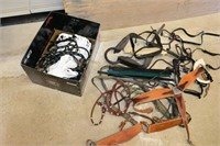 Box of Assorted Horse Tack